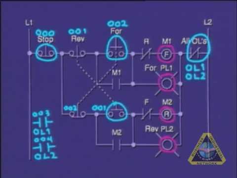 PLC Tutorial - PLC program of motor control circuit