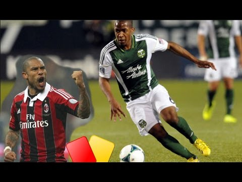 Darlington Nagbe cut down. Nigel de Jong gets yellow?