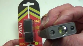 MecArmy SGN3 160 lumen Keychain Rechargeable Flashlight