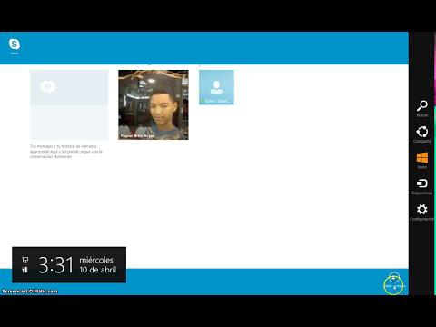como usar skype en windows 8