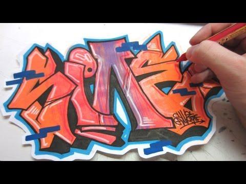 Flip and Rotate Graffiti Speed Art