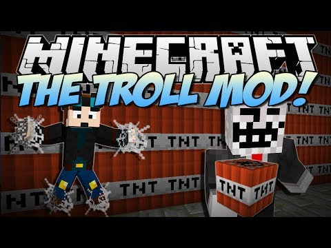 Minecraft THE TROLL MOD Troll TNT Never Ending Webs More Mod Showcase