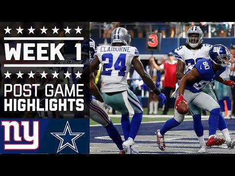 Giants Vs Cowboys Nfl Week 1 Game Highlights