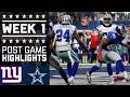 Giants vs. Cowboys | NFL Week 1 Game Highlights MP3