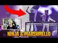 Ninja Reacts to Marshmello Inviting Him on Stage! | Fortnite Best Moments #26 MP3