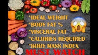 ESTIMATE YOUR BODY PARAMETERS (IDEAL WEIGHT,BODY FAT, VISCERAL FAT, BMI, CALORIES)