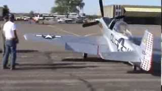P-51D Mustang First Flight (2/3 scale) - Camera Stabilized Version