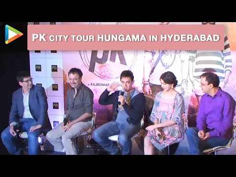 PK City Tour Hungama In Hyderabad | Aamir Khan, Anushka Sharma...