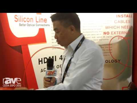 CEDIA 2015: Silicon Line Presents Fiber Optic Cable for HDMI, Up to 100 Meters
