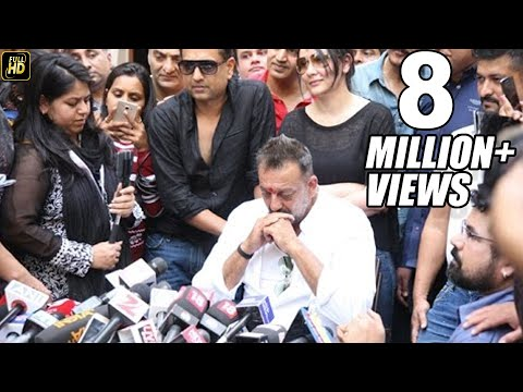 UNCUT:  Sanjay Dutt's Emotional Interview After Coming Out Of Jail 2016