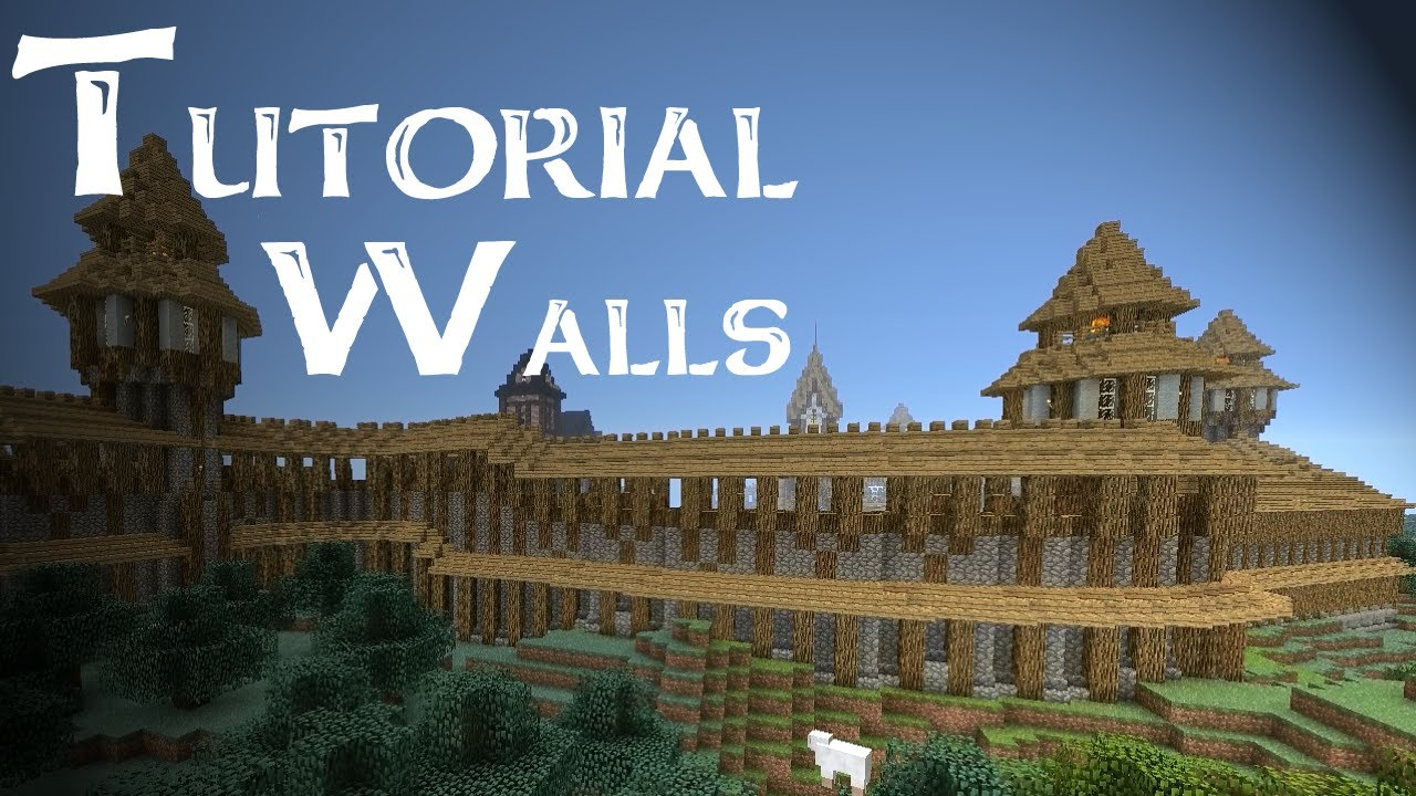 Minecraft Tutorial: How to build medieval city walls (Part 1/4 ...