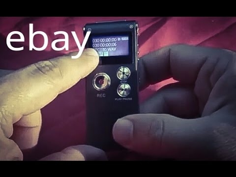 First Impressions: eBay Gray 8GB Steel Digital Sound Voice Recorder Dictaphone MP3 Player record