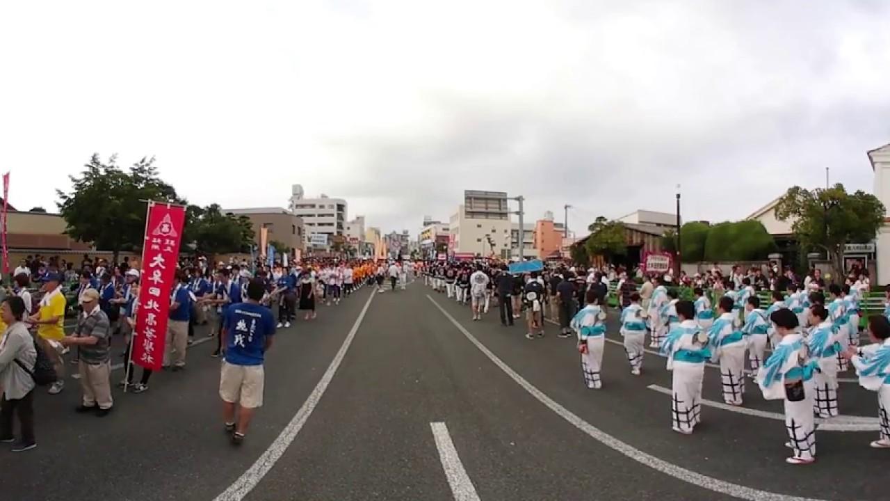 2017大牟田夏祭り一万人の総踊り(360度動画テスト撮影Gear 360 【SM-R210】)