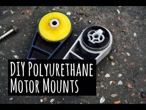 $10 DIY How to Make Polyurethane Engine Mounts - Filling Motor Mounts with Polyurethane