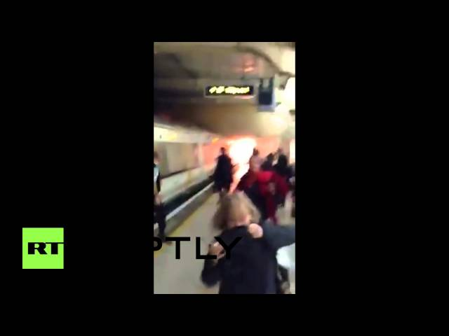 UK: See London underground station in FLAMES