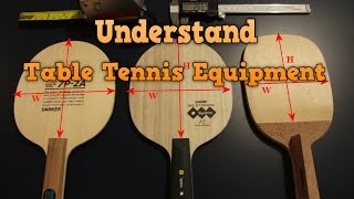 Understand Table Tennis Equipment | Choose Best Paddle and Rubber