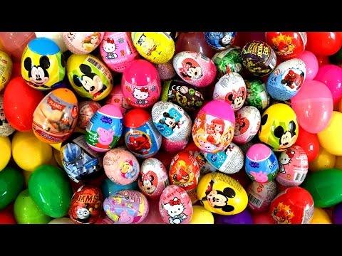 Surprise Eggs Peppa Pig Mickey Angry Birds Hello Kitty サプライズエッグ Disney Princess Huevos Sorpresa video