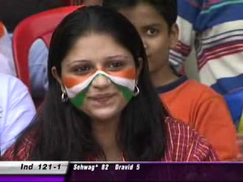 A girl trying to flirt with zaheer khan during a match!!!