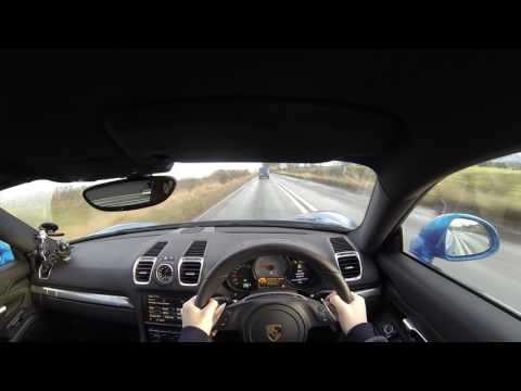 2016 Porsche Cayman S POV Test Drive   UK Country Roads