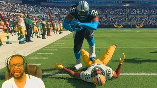 CAM NEWTON TRYING TO PLAY RUNNING BACK! Madden 18 Career Mode RB S3 Ep 42