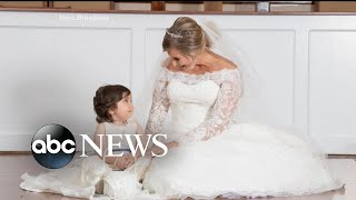 Toddler is flower girl at bone marrow donor's wedding