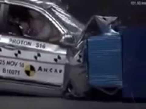 Kompilasi ujian kemalangan kereta proton