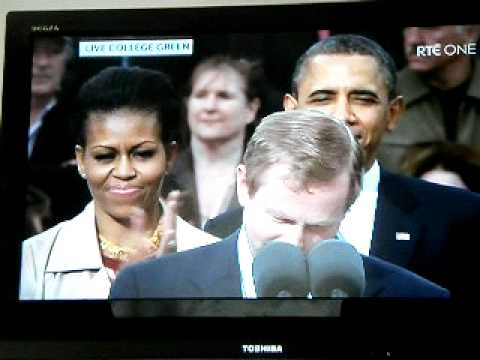 Obama In Ireland - Enda Kenny And Barack Obama's Speeches