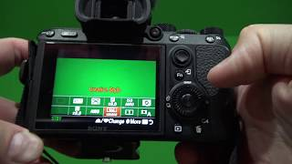 Sony a7iii Movie Recording Aperture Priority Tutorial