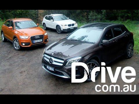 Mercedes-Benz GLA v BMW X1 v Audi Q3 | Comparison | Drive.com.au