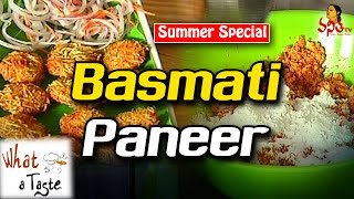 Basmati Paneer Recipe || Easy Starters & Snacks || What A Taste || Vanitha TV