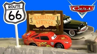 Cars Highway Hideout Route 66 Speed Trap Launcher Story Sets New 2015 DisneyPixarCars