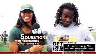 5-Star RB Najee Harris of Antioch Interviewed by UAAA Oregon VB Signee Ronika Stone