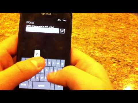 Windows Phone 7 Samsung Now Hub