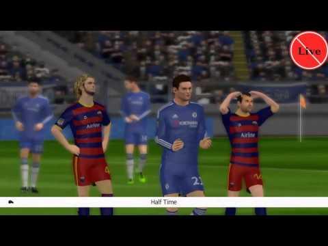 Dream League Soccer 2016 #chelsea VS barcelona #Costa, Hazard, Oscar VS Suárez, neymar, Messi