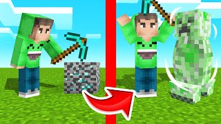 BREAK BLOCK = Spawn CREEPER In MINECRAFT! (Dangerous)
