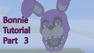 Minecraft Pixel Art Tutorial:How to make Bonnie Part 3(Five Nights at Freddy's)