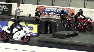 Hayabusa vs Ninja - superbikes drag racing