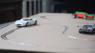 Slotcar Racing on Cardboard