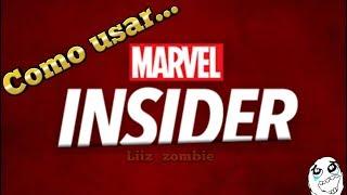 Como usar Marvel Insider