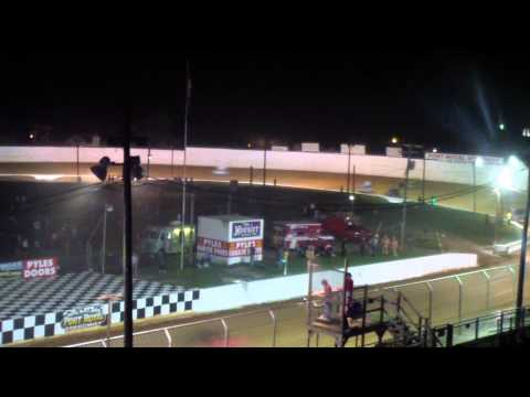 Port Royal Speedway 410 Sprint Car Highlights 8-30-14