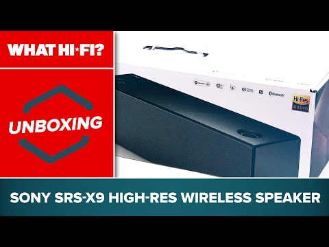 Sony SRS-X9 high-res wireless speaker - unboxing and first look