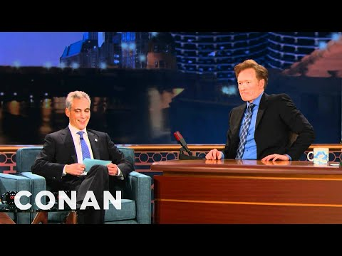 Mayor Rahm Emanuel Gives Conan Chicago Citizenship Test   Conan On Tbs