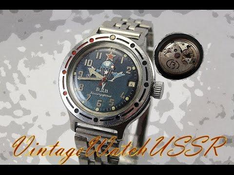 Instructions for using mechanical Soviet watch Selfwinding Vostok Amphibian