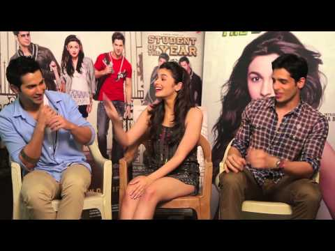 Sidharth Alia and Varun talk about Student Of The Year
