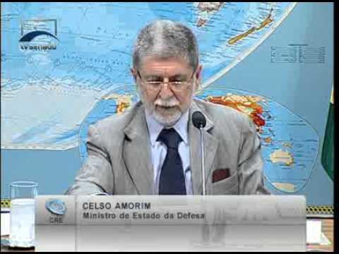 Min. Celso Amorim compara o orçamento de Defesa do Brasil com outros países