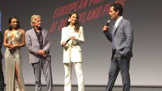 Paul Rudd at Ant Man and the Wasp european premiere