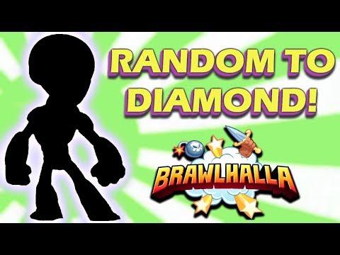 RANDOM TO DIAMOND!! • Ranked 1v1s • Brawlhalla Gameplay