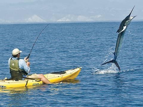 300 pound marlin tows kayak 11 miles youtube for Fishing kayak for big guys