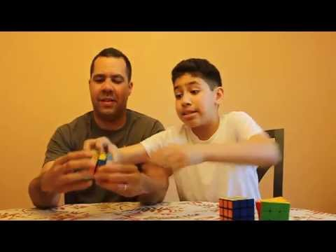 Father vs Son Rubik's Cube