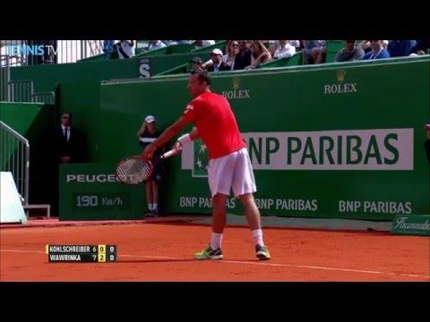 Wawrinka Fine Volley In Monte-Carlo 2016 Hot Shot